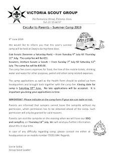 Summer Camp 2019 Circular